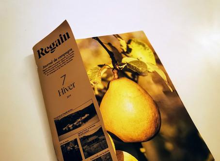 Sur l'Aubrac pour le magazine Regain