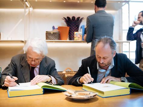Chez Louis Vuitton Vendôme avec Pierre Le-Tan