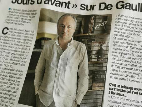 """La Dépêche : Bertil Scali dévoile """"Les Jours d'avant"""" sur de Gaulle"""