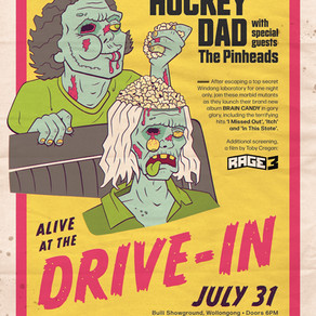 HOCKEY DAD ANNOUNCE DRIVE-IN CONCERT