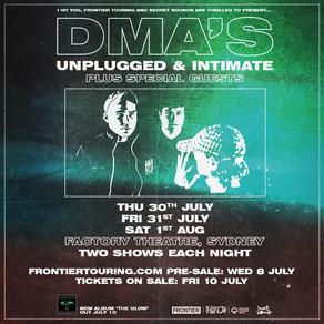 DMA'S ANNOUNCE SYDNEY ALBUM LAUNCH GIGS