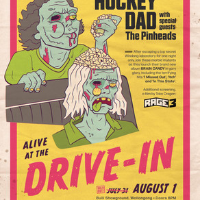 HOCKEY DAD ANNOUNCE SECOND DRIVE-IN SHOW, ALIVE AT THE DRIVE IN PART II