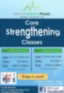 Core Strenthening Classes Flyer Term 4 2