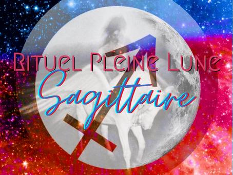 Rituel Pleine Lune en Sagittaire + Éclipse lunaire