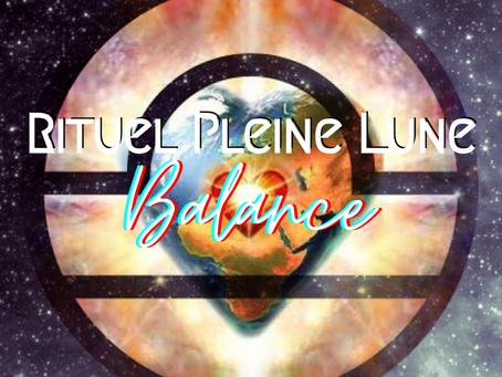 Rituel Pleine Lune ~ Balance
