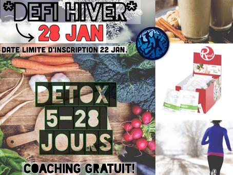 Défi Détox 5-28 jours ~ Édition hivernale