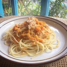 にんじんしりしりとツナのスパゲッティ