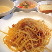 地鶏のミートソーススパゲッティ