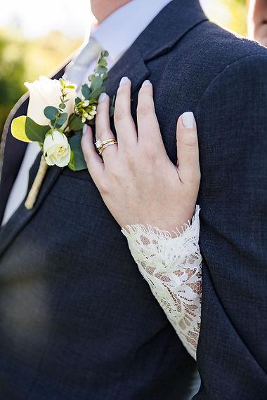 Close up wedding ring photos taken at Piney Branch Golf Club in Maryland