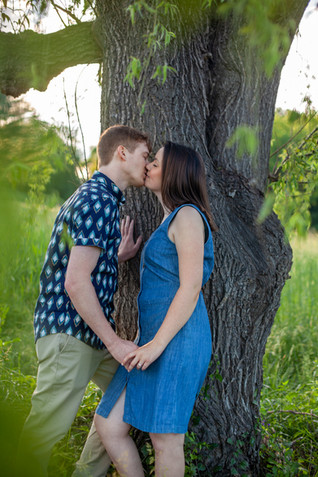 Engagment session at Piney Branch Golf Club