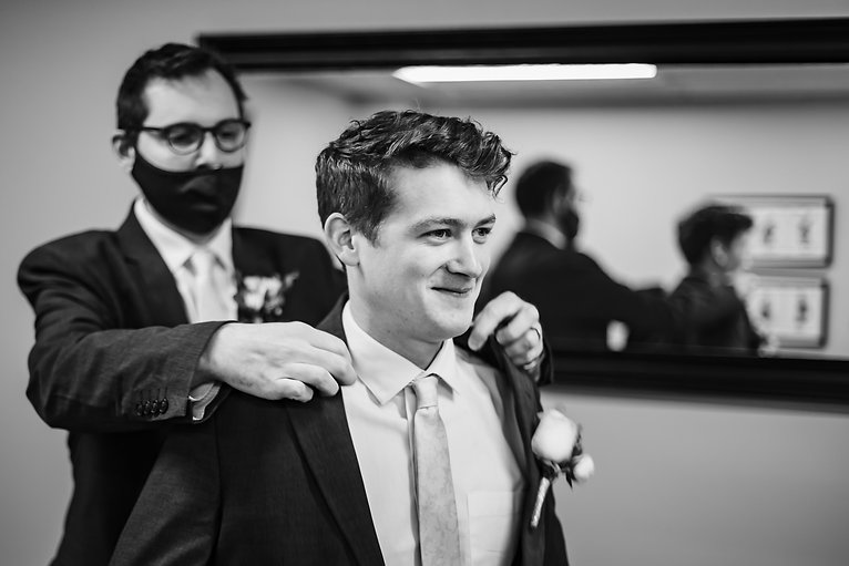 Groom Prep at Piney Branch Golf Club in Maryland