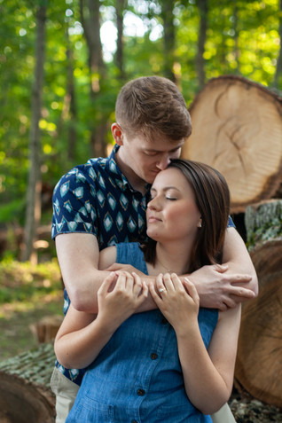 Engagement session at Piney Branch Golf Club