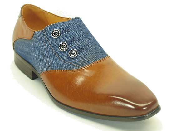 KS524-12 Button-up Loafer-Cognac