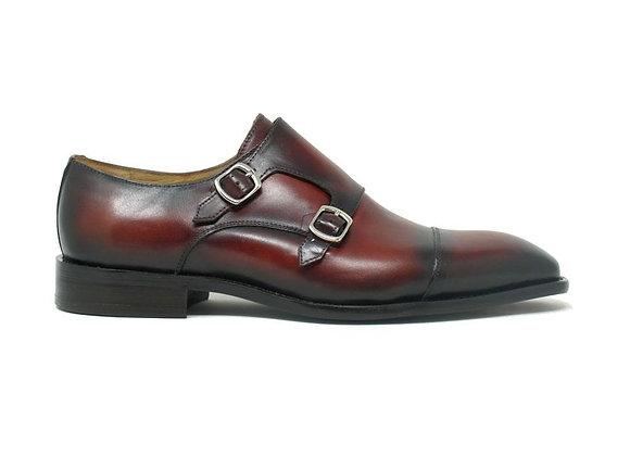 KS509-23 Double Monk Straps Leather Shoes