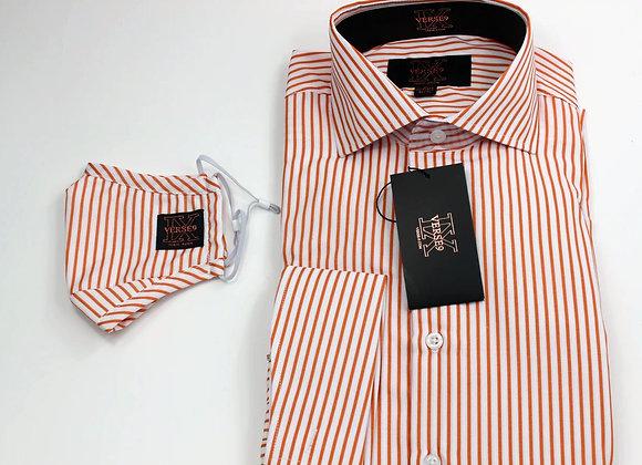 Orange Stripe Shirt and Mask Combo
