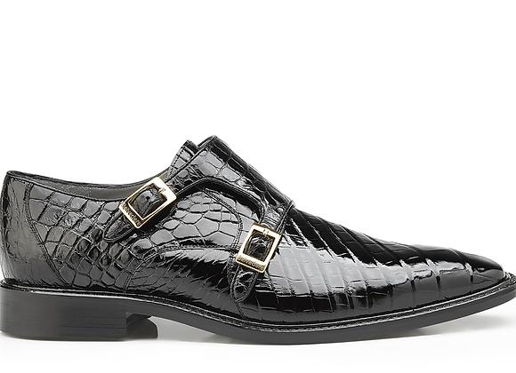 Oscar, Double Monk Strap Genuine American Alligator Shoes Style: B02