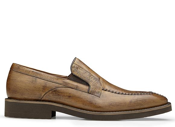 Pietro, Genuine Ostrich and Italian Calf Slip On Dress Shoe, Style: 4B7