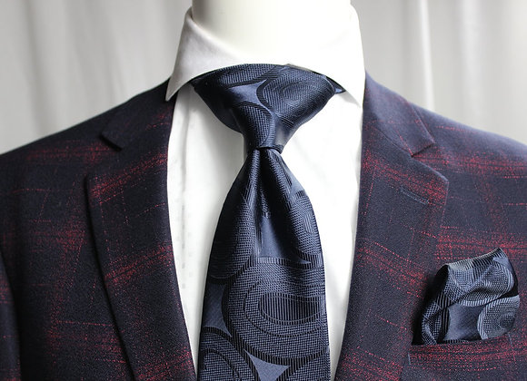 SOLID FIAT 11 - 7 FOLD TIE & POCKET SQUARE