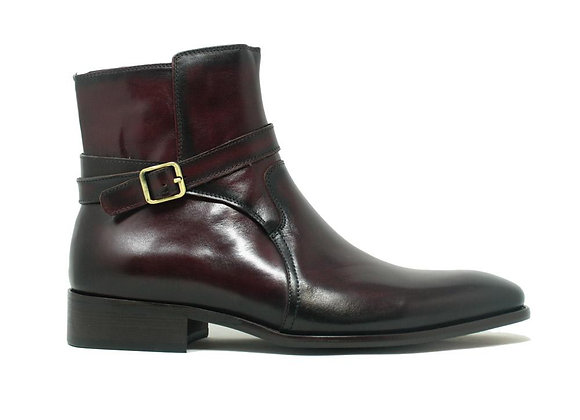 KB886-17 Strap Buckle Leather Boots