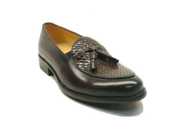 KS708-05 Carrucci Calfskin Woven Tassel Loafers