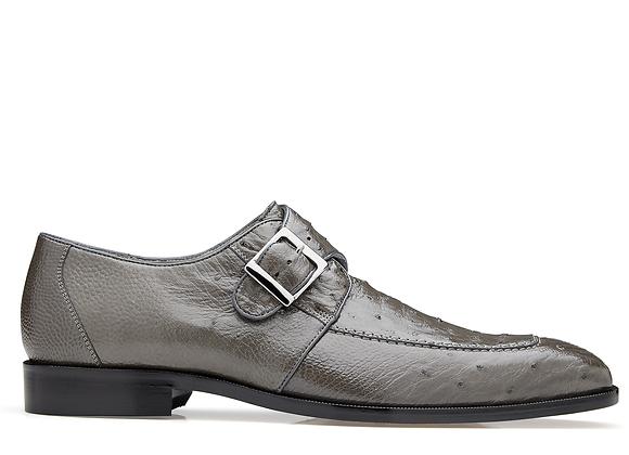Josh, Ostrich Single Buckle Dress Shoe, Style: 114011