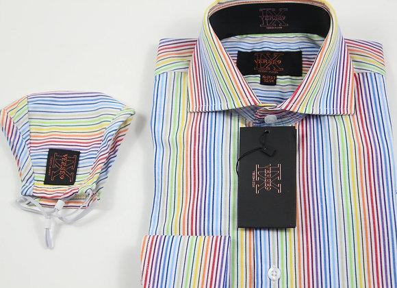 Rainbow Stripe Shirt and Mask Combo