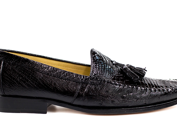 Bari, Caiman and Ostrich Loafers, Style: R11