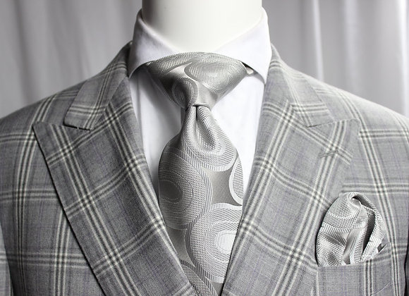 SOLID FIAT 10 - 7 FOLD TIE & POCKET SQUARE
