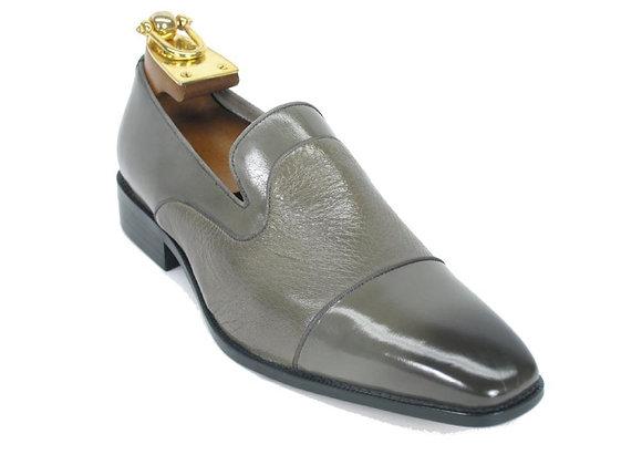 KS2240-05 Deerskin Leather Loafer-Gray