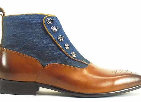 KB524-12DC, Carrucci Button-up Denim Zip Boots