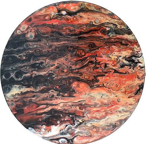 Upcycled Acrylic Pour on Vinyl LP Clock 2