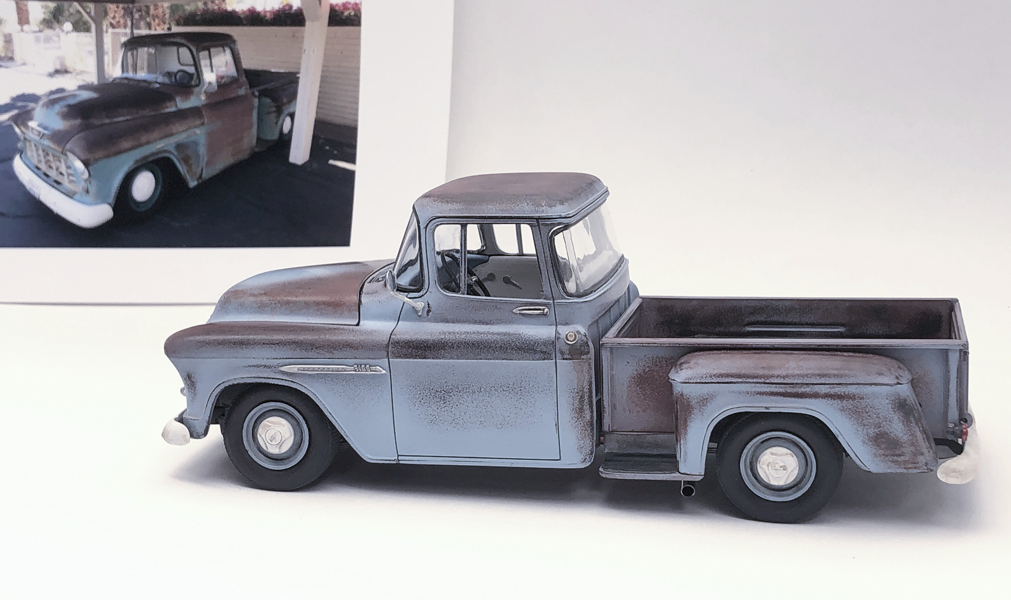 55 Chev Pickup with real truck