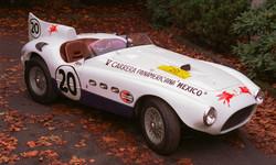 Ferrari 375MM on leaves