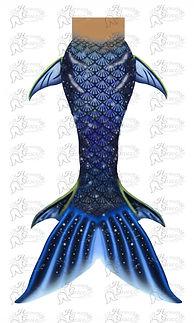 Blue Mermaid Tail