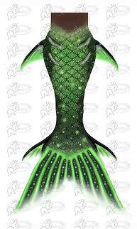 Green Mermaid Tail