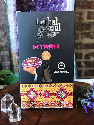 Tribal Soul Myrrh Backflow Incene Cones