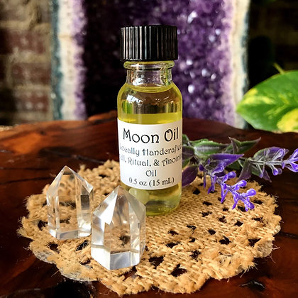 Stone Age Moon Oil Spell, Ritual, & Anointing