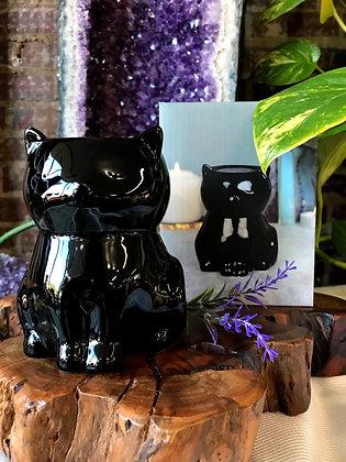 Black Magic Cat Ceramic Oil Burner