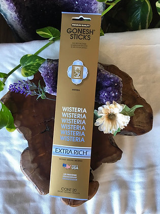 Gonesh Sticks Wisteria Extra Rich Incense