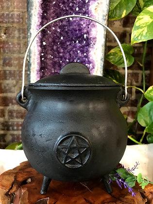 Pentacle Cast Iron Cauldron (Extra Large)