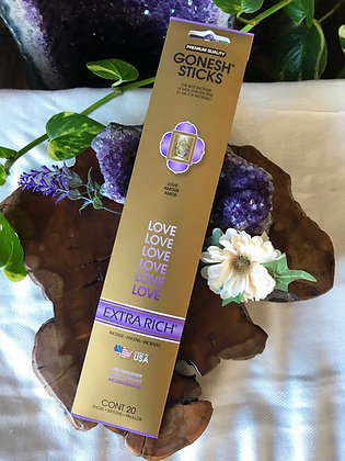 Gonesh Sticks Love Extra Rich Incense