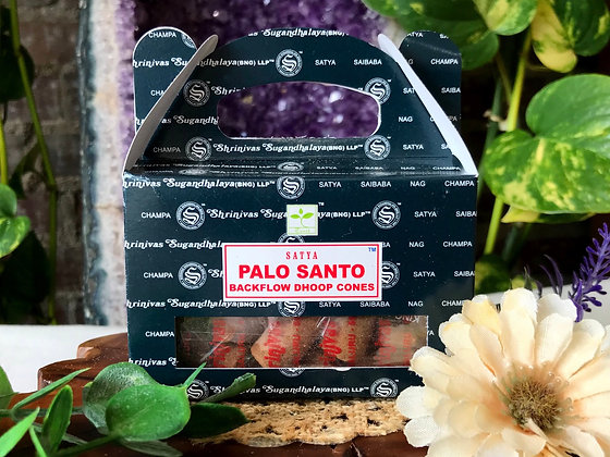 Satya Palo Santo Backflow Dhoop Cones