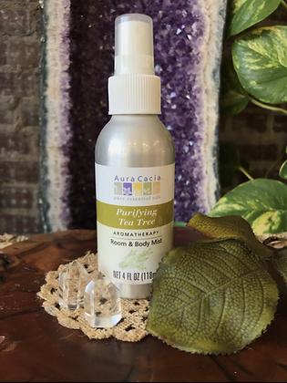 Aura Cacia Purifying Tea Tree Aromatherapy Room & Body Mist