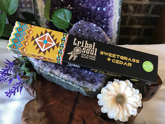 Tribal Soul Sweetgrass & Cedar Incense Smudge Sticks