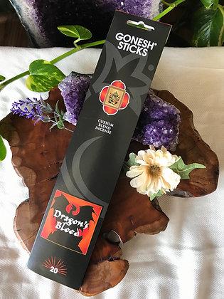 Gonesh Sticks Dragon's Blood Custom Blend Incense