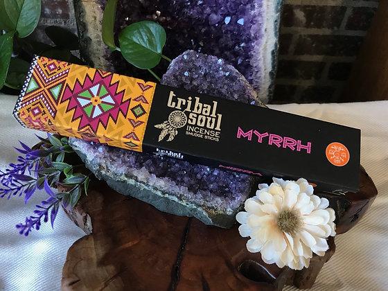 Tribal Soul Myrrh Incense Smudge Sticks