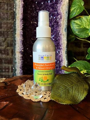 Aura Cacia Peaceful Patchouli & Sweet Orange Aromatherapy Room & Body Mist