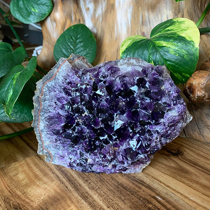 Calcite Frosted Amethyst Geode