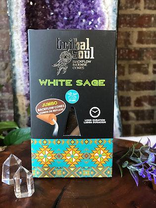 Tribal Soul White Sage Backflow Incene Cones