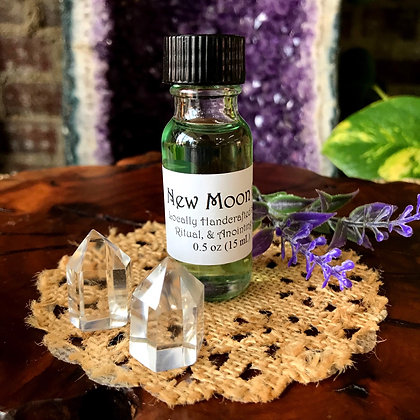 Stone Age New Moon Oil Spell, Ritual, & Anointing